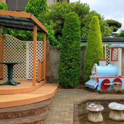 遊び心をプラスしたお庭造りも得意です/展示場より
